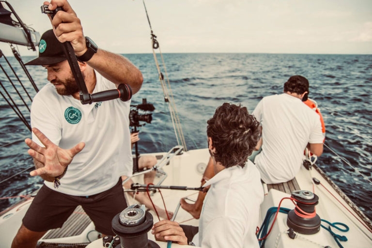 Mediterranean plastic pollution sailing regata